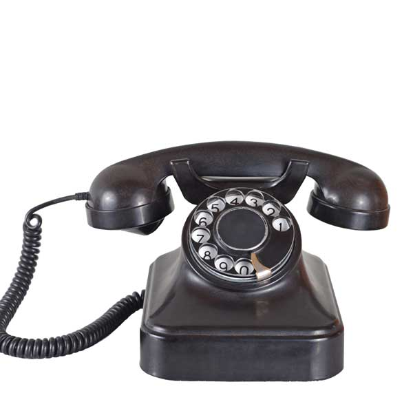 Image of an old bakelite telephone
